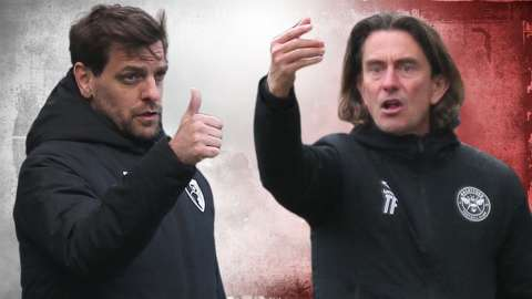 Jonathan Woodgate (left) and Thomas Frank (right)