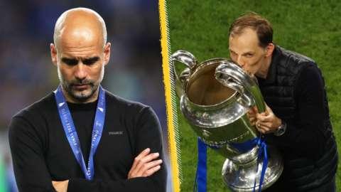 Man City boss Pep Guardiola and Chelsea boss Thomas Tuchel