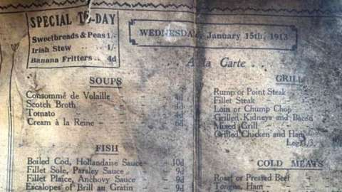 Historic menu