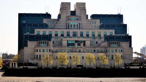 The headquarters of MI6 (The Secret Intelligence Service (SIS) at Vauxhall Cross, London