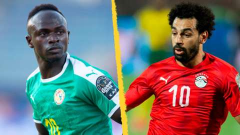 Sadio Mane and Mo Salah in action for their countries