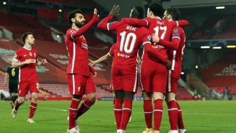 Liverpool celebrate beating Ajax