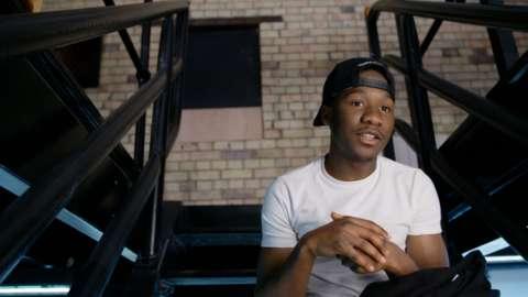 Saidu, from BBC Three's The Rap Game UK