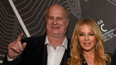 Michael Gudinski and Kylie Minogue