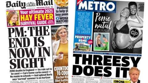 Daily Mail and Metro