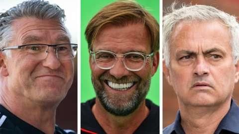 Nigel Pearson, Jurgen Klopp and Jose Mourinho