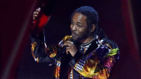 Kendrick Lamar at the Brit awards