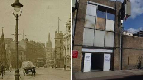 Broadmarsh area 120 years apart
