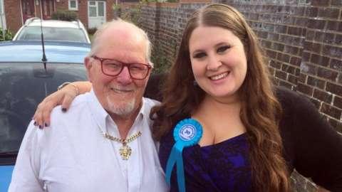 Reg Davies and his daughter, Gemma.
