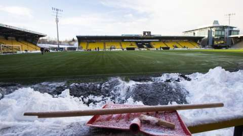 Livingston pitch on Wednesday