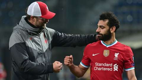 Jurgen Klopp (left) and Mohamed Salah (right)