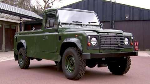 Prince Philip's Land Rover hearse