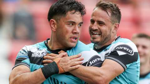 Andre Savelio plundered a hat-trick for a dominant Hull FC