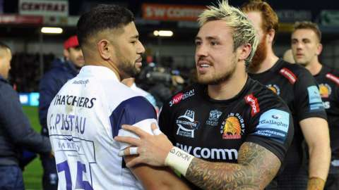 Charles Piutau and Jack Nowell