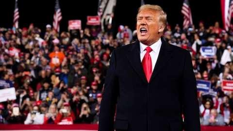 Donald Trump in Valdosta, Georgia. 5 Dec 2020