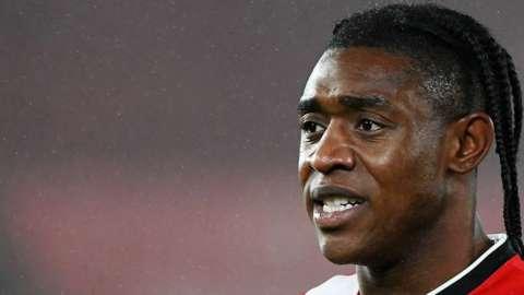 Dan Nlundulu in action for Southampton
