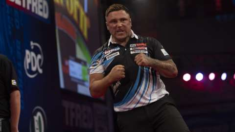 Gerwyn Price is through to the quarter-finals for only the second time in his career.
