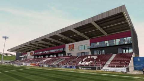 Computer generated image of the East Stand