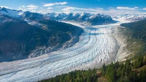 Klinaklini Glacier is the largest glacier of Western Canada