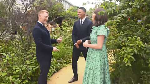 Alex, Jermaine and Ronan reveal the Garden of Hope at this year's RHS Chelsea Flower Show