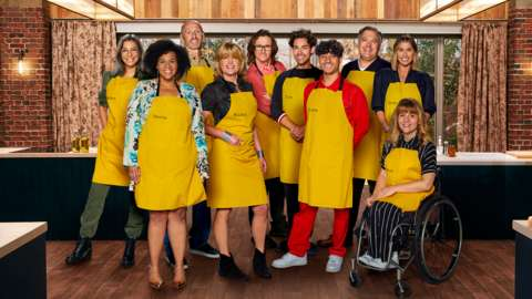 The contestants for Best Celebrity Home Cook