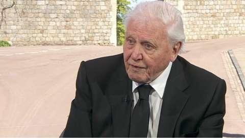 Sir David Attenborough has praised Prince Philip's conservation work.