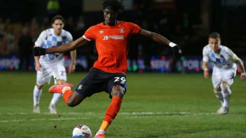 All Elijah Adebayo's three goals to date for Luton Town have come at Kenilworth Road