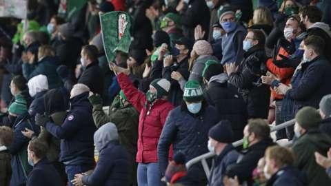 London Irish fans in December