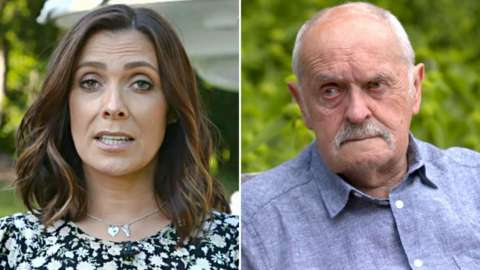 Kym Marsh and her dad Dave
