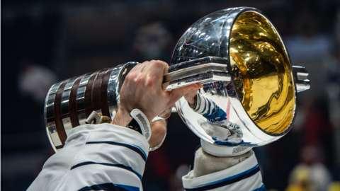 Finland lift the World Championship trophy in 2019