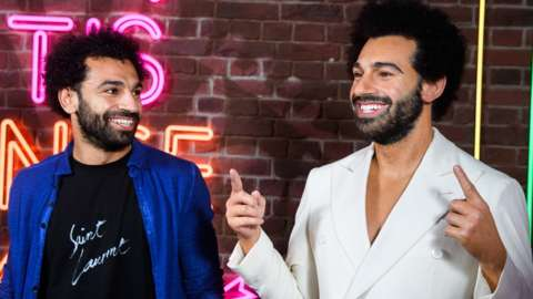 Mohamed Salah with his waxwork