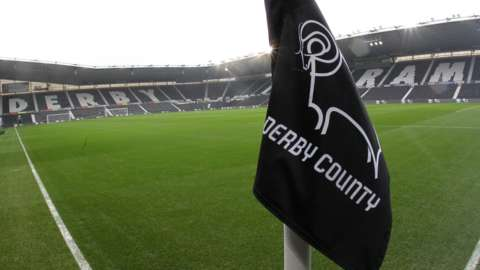 A cornerflag at Derby County's Pride Park
