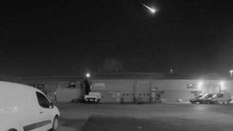 A meteor lit up the sky over Somerset