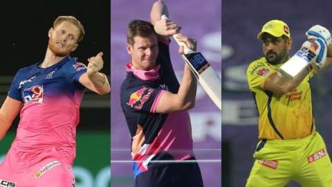 Ben Stokes, Steve Smith and MS Dhoni
