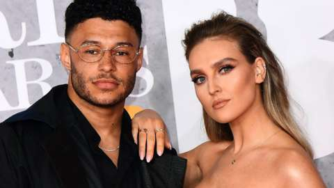 Perrie Edwards and Alex Oxlade-Chamberlain