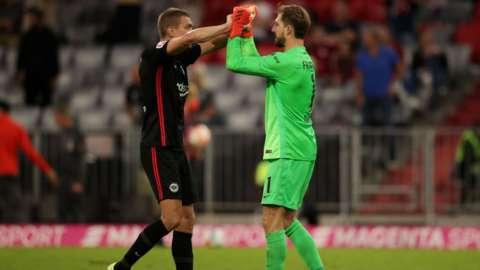 Eintracht Frankfurt celebrate