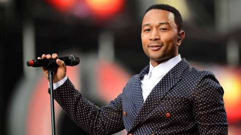 John Legend performs at inauguration concert