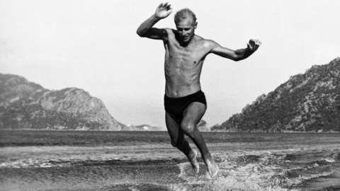 Prince Philip in the sea