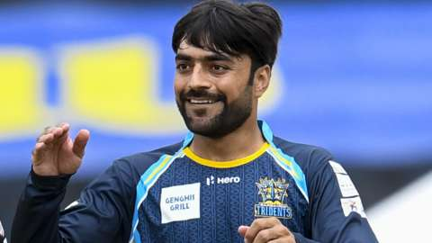 Rashid Khan in action for Barbados Tridents
