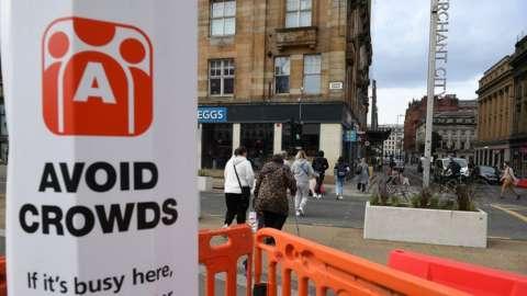 Glasgow Covid sign