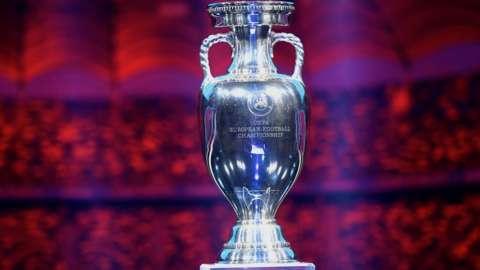 The men's European Championship trophy