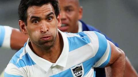 Matias Orlando in action for Argentina