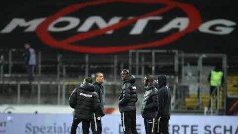 Eintracht Frankfurt fans' protest