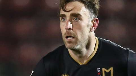 Richard Keogh spent the first half of the 2020-21 season at MK Dons before joining Huddersfield in January