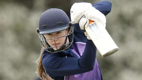 Scotland's Sarah Bryce in action