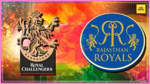 Royal Challengers Bangalore v Rajasthan Royals badge graphic