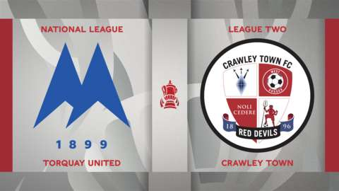 Torquay United v Crawley Town badge graphic