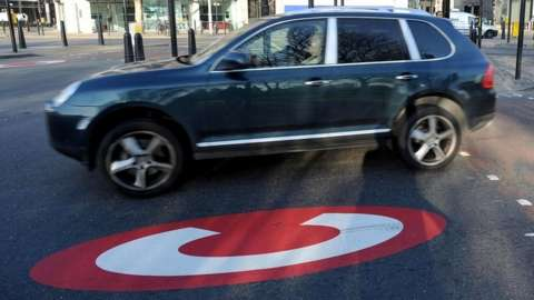 Car in congestion charge zone