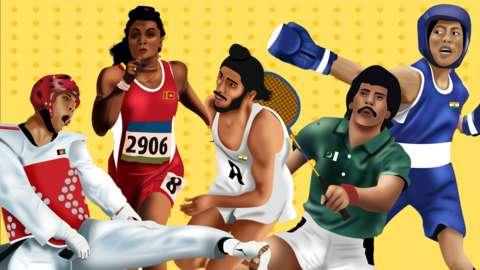 Milkha Singh, Jahanghir Khan, Susanthika Jayasinghe, Mary Kom, Rohullah Nikpai