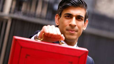 Chancellor Rishi Sunak holds his Budget plans